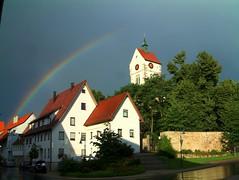 Rainbow Bondorf HDR (bonho1962) Tags: storm church clouds germany rainbow romantic gewitter thunder hdr swabian bondorf