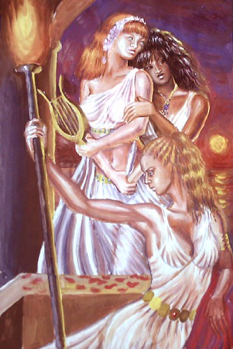 Korinna, Sappho si Erinna by ♥The Painter Of The Pure Feeling♥.