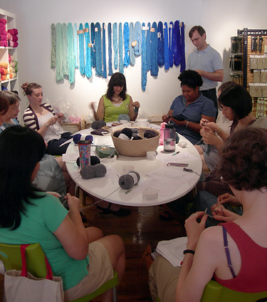 Loop Charity Knitting Club at Work