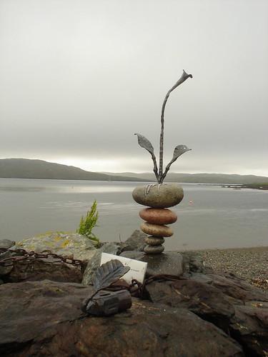 Hillswick, arte en la playa