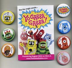 Yo Gabba Gabba buttons