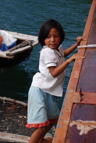 Girl in Ha Long Bay