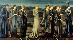 """The Wedding of Psyche"" 1895, by Burne-Jones (rosewithoutathorn84) Tags: wedding painting greek victorian somber mythology psyche preraphaelite humansacrifice burnejones hellenic"