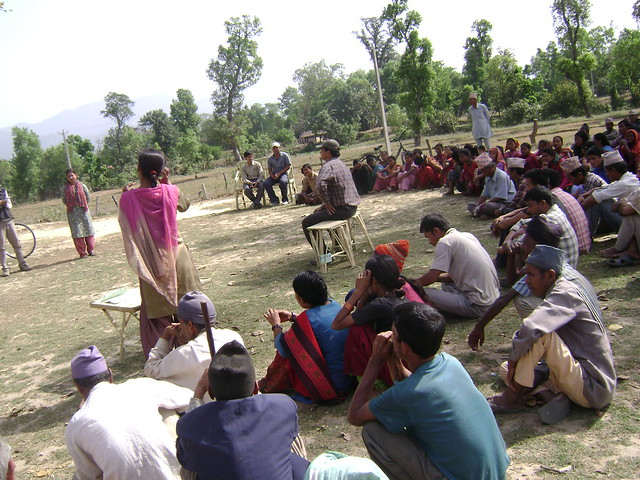 Community conflict process meeting in Kanchanpur, Nepal - John Paul Lederach
