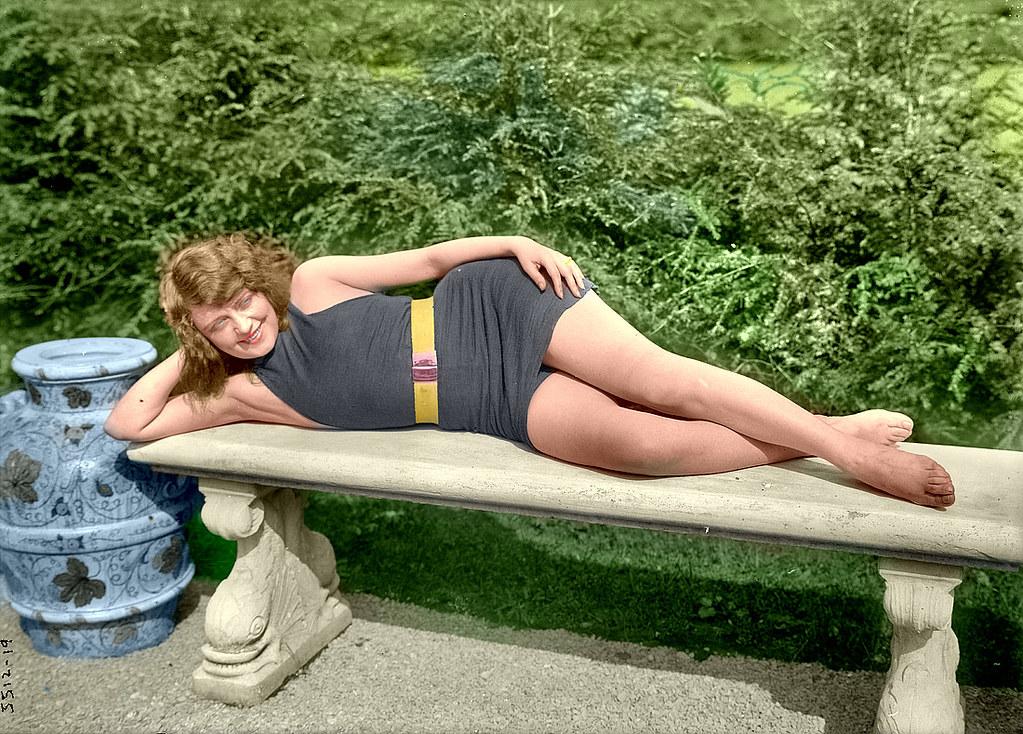 Lounging Flapper In BathingSuit