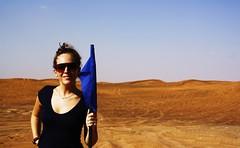 non era la luna, tutt'altro . (s t a r s _ o h !) Tags: blue hot me yellow dubai desert flag tita 2010 hatta ottobre caldo