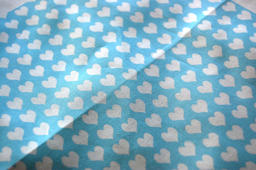 Ditsy Heart Blue quilters cotton