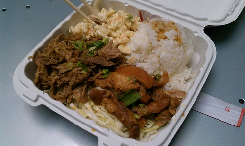Kalua Pig and Shoyu Chicken from 808 Grinds