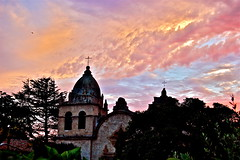 carmel mission sunset (montereycamera) Tags: california november our sunset sky church clouds monterey nikon cross bright father montereybay daily carmel winner mission montereycounty serra peninsula challenge nationalgeographic blueribbon spanishmission inthemood at