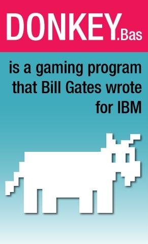 Donkey.bas - Game Bill Gates Wrote for IBM