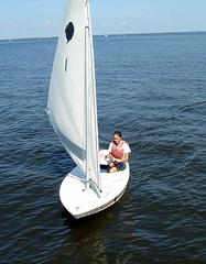 C sailing a sunfish