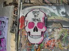 Street Art in Barcelona (matt corwine) Tags: streetart calavera bar
