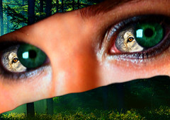 Women Eyes (roy.paparodis) Tags: trees ohio wild summer abstract hot sexy green eye girl beautiful danger forest nude eyes woods women wolf fear salem scared soe frightened themoulinrouge blueribbonwinner my 35faves abigfave winnerstrophy brillianteyejewel platinumheartaward artlegacy excapture emrold