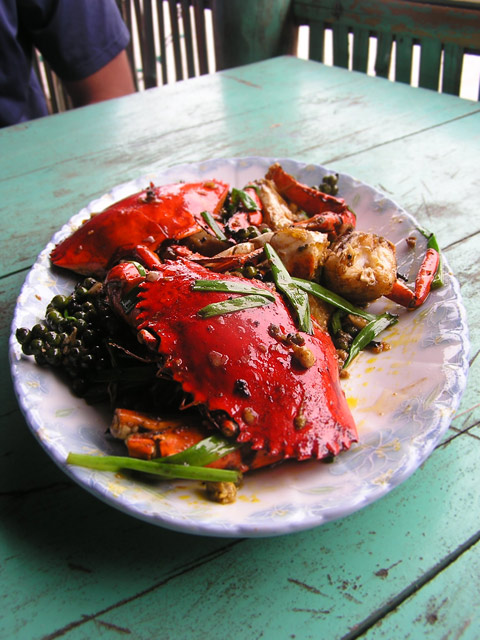Pepper Crab in Kampot
