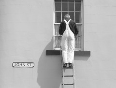 Bloke up a ladder (ambo333) Tags: painting decorating cumbria painter ladder painters johnstreet decorator decorators maryport thepainter maryportcumbria painterandladder maryportcumberland