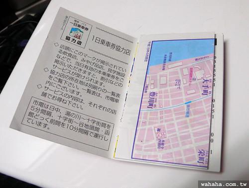 函館市電 1日乘車券