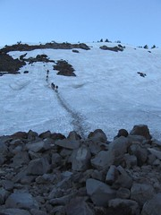 Dirty trail to avoid the Crescent Glacier