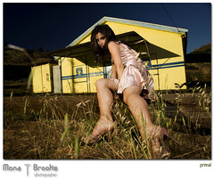 Primal (SFMONA) Tags: woman building girl yellow rural model pretty bayarea primal pinkdress photooftheday pointrichmond peopleschoice madalina superaplus aplusphoto goldenphotographer excellentphotographerawards 15jul2007