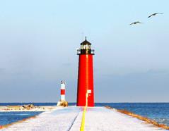 Saudades (Ana Castro) Tags: lighthouse farol kenosha milwakee a3b