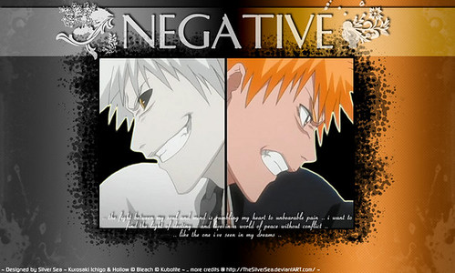 Normal and Negative Ichigo Bleach Wallpaper