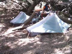 Twin Tents Originally uploaded by jimgskoop & SF Cyclotouring: 12/2007