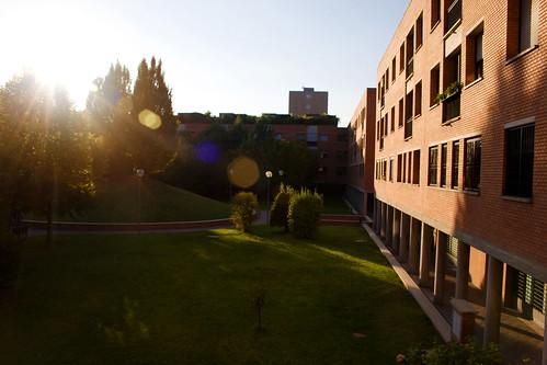 apartment courtyard
