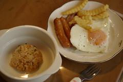 オヤヂ特製朝飯