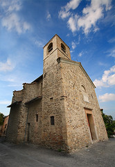 Italia - Parma - Torrechiara - Castello - Chiesetta [Italy - Parma - Torrechiara - Chapel of the Castle] (ecatoncheires) Tags: blue sky italy cloud church clouds interestingness italia nuvole nuvola cross blu religion sigma chiesa explore cielo 1020mm croce religione explored ecatoncheires