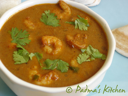 My Style Shrimp Curry ~ Padma's Kitchen
