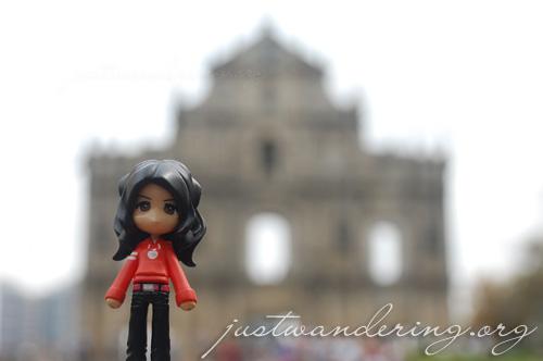 Sayuri at the St. Paul's Ruins