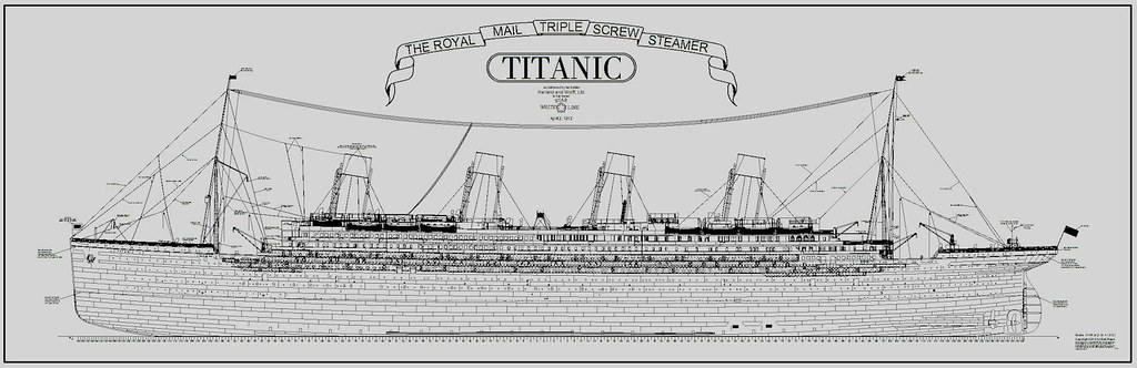 titanic plans ship