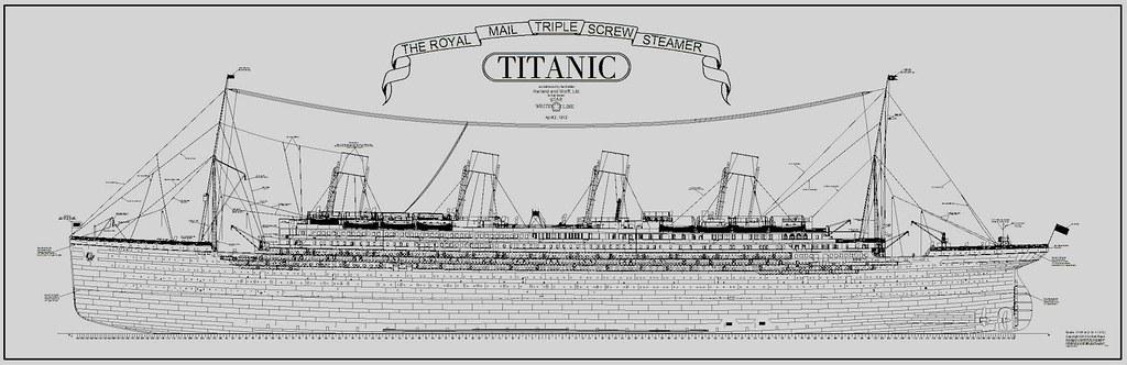 titanic plans ship