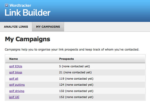 my campaigns
