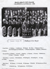 Ballarat City Band 1909 (HistoryInPhotos) Tags: musician history booth allan friend williams candy martin thomas band smith palmer victoria shannon walker winner shackles carroll wade henderson mather parker ballarat brassband malthouse conductor amer salthouse richardson stephenson 1909 lugg partington drummajor ramage cityband sandegren bowra riefell