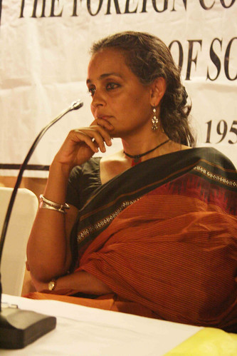 City Sighting - Arundhati Roy, The Foreign Correspondents' Club of South Asia