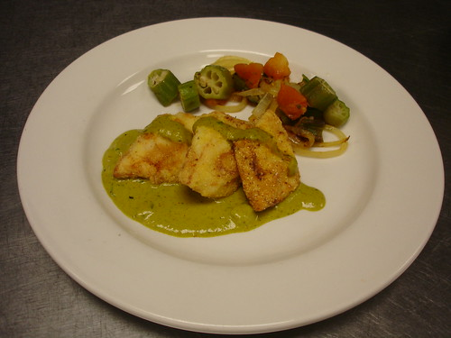 Fried Fish in Pearly Mean with Remoulade Sauce