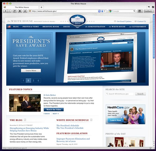 whitehouse.gov Screen shot 2010-11-10 at 5.03.56 PM