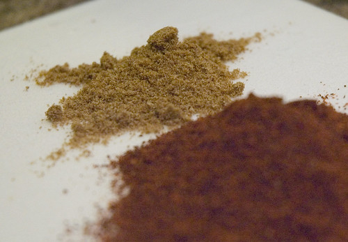 cumin and chili powder