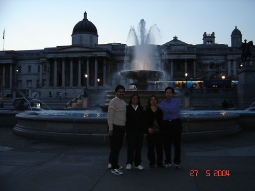 With Mr & Mrs Seth at Trafalgar Sq.