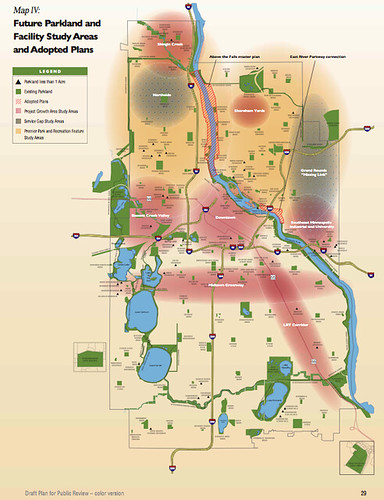 Minneapolis Future Parkland and Facility Study Areas and Adopted Plans