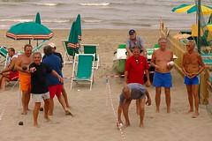 Beach Bocce (AndreasC) Tags: summer italy beach italia estate liguria bocce spiaggia italians ferragosto alassio dsc997711