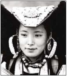 A Ladakhi lass, 1950's by Dwarika Das Shrestha