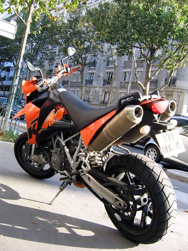 KTM 950 Supermoto - Back,motorcycle, sport motorcycle, classic motorcycle, motorcycle accesorys