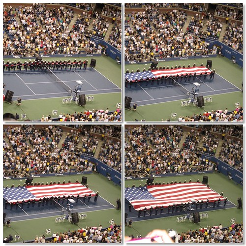 Us Open flag ceremony