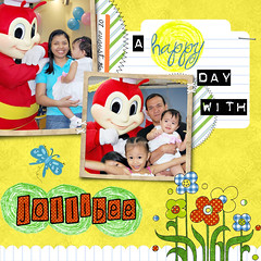a happy day with jollibee layout