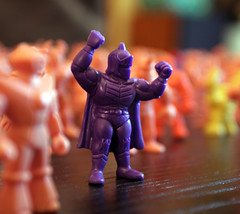 You can take our action figures, but you will never take ... OUR FREEDOM! (sidehike) Tags: pink muscles gum purple action rubber figurines knight figures musclemen kinnikuman kinkeshi