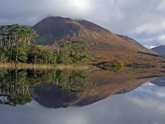 Derryclare Lake reflections,Connemara,Galway,Ireland (kliffklegg) Tags: ireland irish lake mountains galway reflections pins eire connemara 12 breathtaking bens clifden briankelly derryclare supershot mywinners theunforgettablepictures kliffklegg