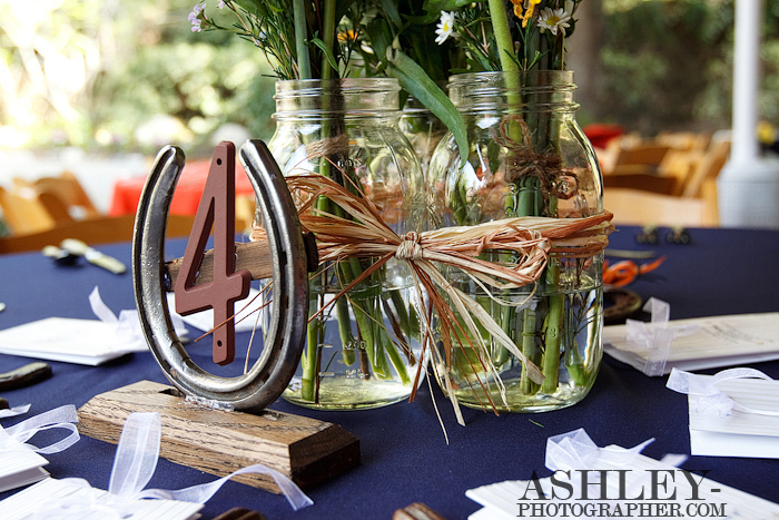 western wedding centerpieces for tables