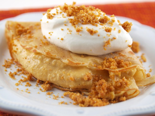 Cinnamon Crepes with Pumpkin Mousse and Graham Crust Crumbl