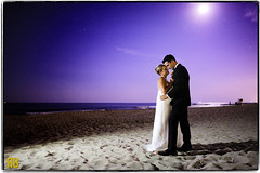 Under the Moonlight (Ryan Brenizer) Tags: wedding woman man love apple groom bride newjersey nikon jerseyshore iphone d3s litbyiphone 24mmf14g